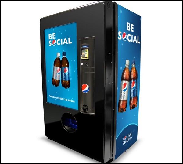 Социальная сеть для пользователей торговых автоматов Pepsi