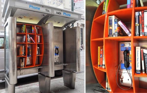 Телефонные будки превращаются в библиотеки