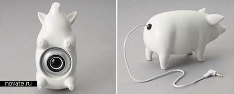 Свинья-аудиоколонка