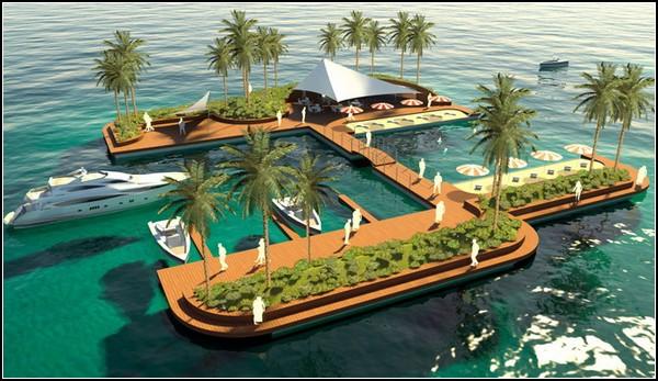 Плавучий остров Floating Pleasure Island