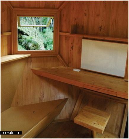 Домик в саду для развлечений и работы