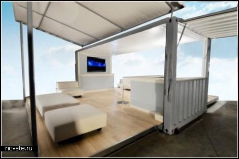 Грузовой контейнер для вечеринок на открытом воздухе