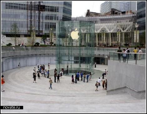 Магазин Apple в Шанхае: стильно и функционально