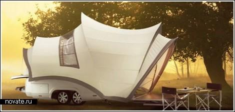Жилая палатка на колесах