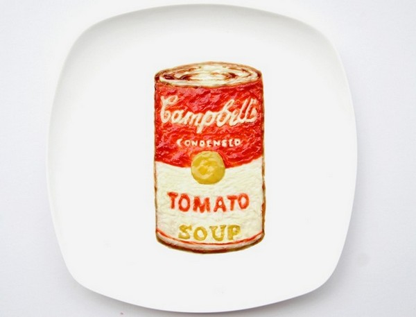День 11, банка супа Campbell, пародия на Энди Уорхолла, 31 Days of Creativity with Food, Хун И (Hong Yi)
