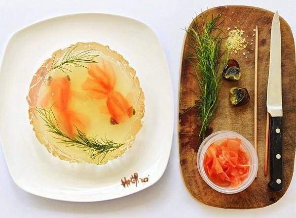 День 29, холодец из золотых рыбок, 31 Days of Creativity with Food, Хун И (Hong Yi)