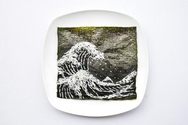 День 7, Большая волна в Канагаве, пародия на Кацусики Хокусая, 31 Days of Creativity with Food, Хун И (Hong Yi)