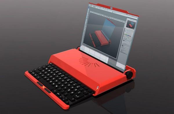 Ноутбук на основе пишущей машинки Valentine