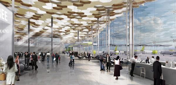 Новый терминал аэропорта Риги от Haptic Architects
