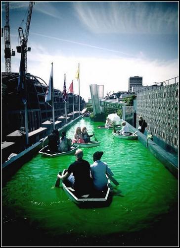 Венецианский канал на крыше лондонского магазина