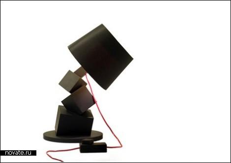 Лампа из кубиков