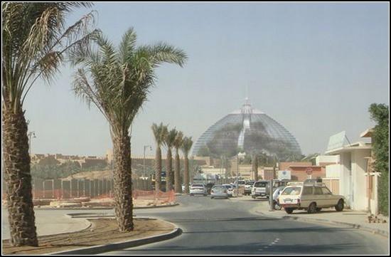 Райский сад под куполом в Саудовской Аравии