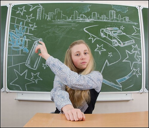 Креативный школьный фотоальбом от фотосалона Слон