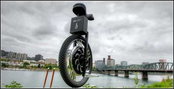 Одноколесный велосипед с электродвигателем