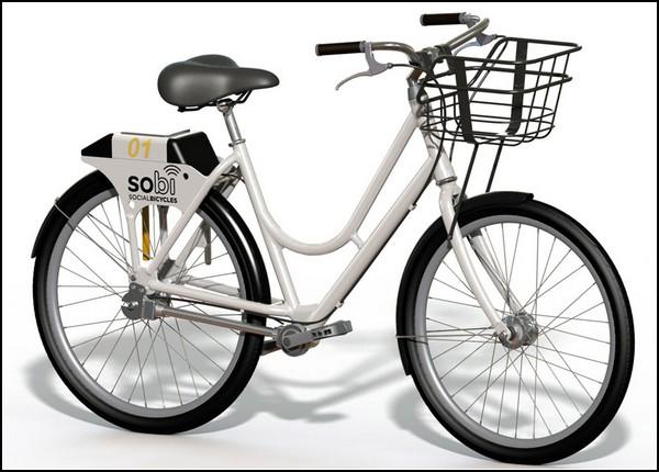 Умные общественные велосипеды Sobi