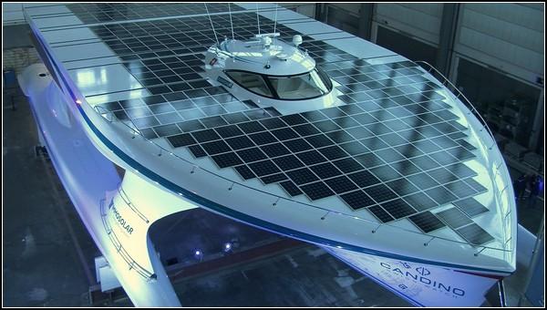 Самая большая солнечная яхта