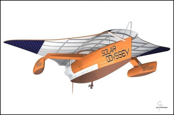 Solar Odyssey – солнечная яхта, похожая на ската