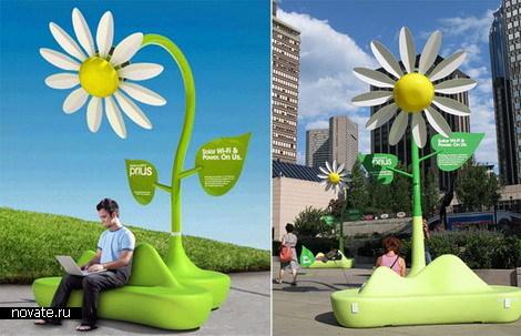 Солнечные цветочки для выхода в Интернет