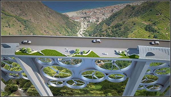 Ветряный и солнечный мост Solar Wind в Калабрии