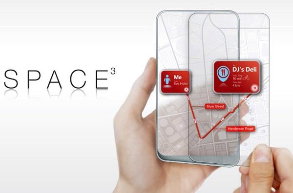 Двойной прозрачный телефон Space 3