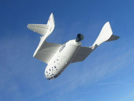 SpaceshipOne в полете