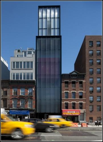 Очень узкий небоскреб в Нью-Йорке