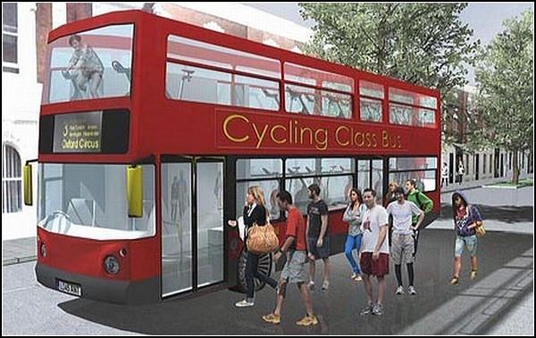 Автобус Spinning Bus для желающих похудеть