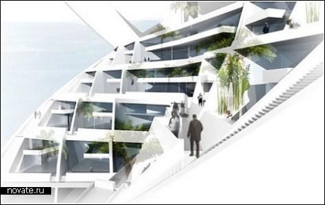 Спиральный небоскреб для тех, кто мечтает о собственном саде