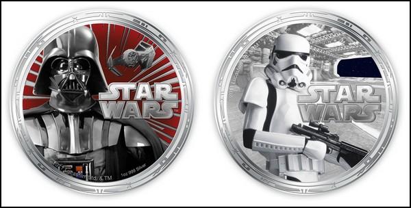 Деньги Ниуэ: монеты с персонажами «Звездных Войн»