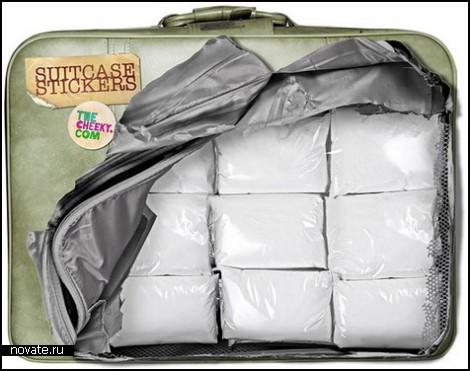 Незаконные наклейки на чемодан