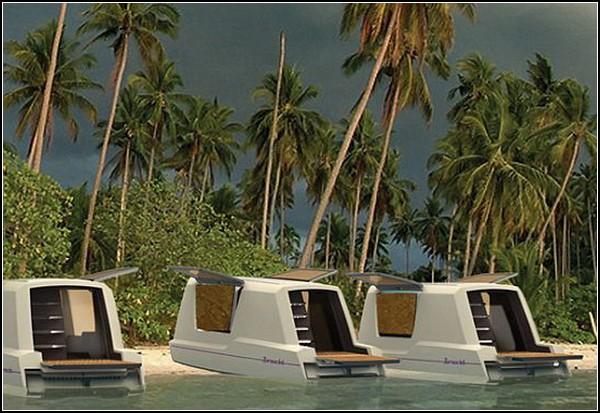Морской вариант дома на колесах