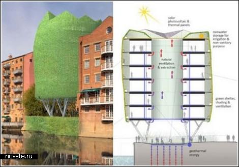 Дом-дерево для набережной Лидса