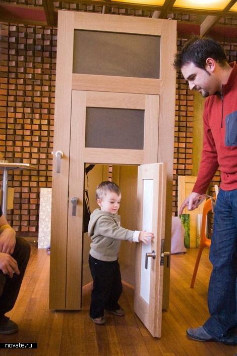 Веселые картинки про двери, совой