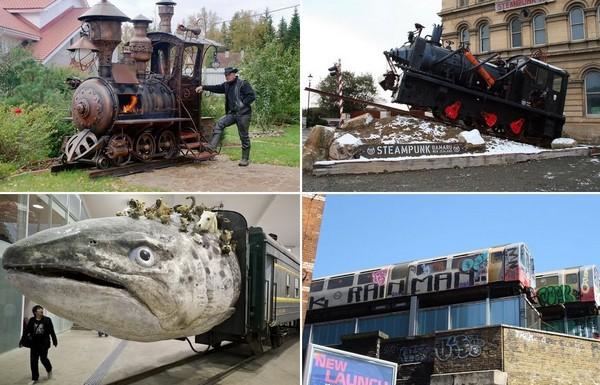 Тема поездов в современном искусстве