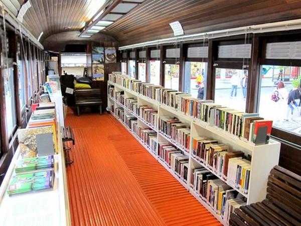Поезд-библиотека в Куритибе