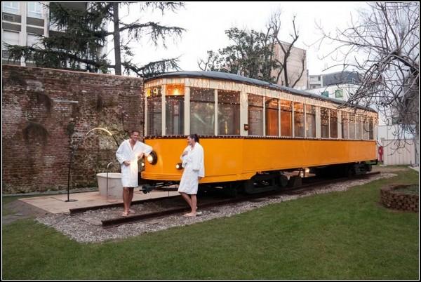 Сауна в миланском трамвае