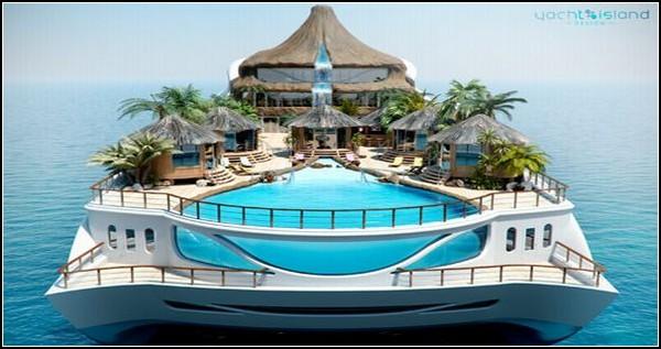 Tropical Island Paradise – яхта-остров с вулканом
