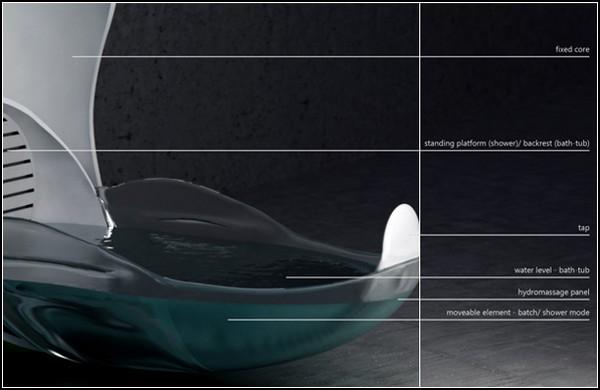 Ванна-тюльпан Tulip Bathtub для маленьких ванных комнат