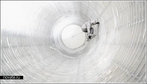 Ледяная труба для сноубордистов