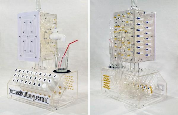 Typewriter Cocktail Machine: как превратить слова, фразы и имена в коктейли