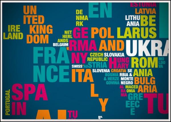 Карты Typomaps: мир состоит из слов