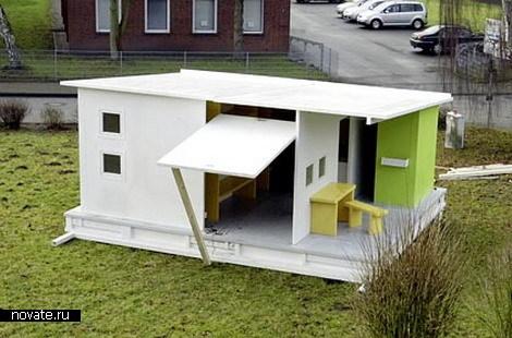 ...Земли дешевым жильем.  Она создала жилой дом площадью 390 квадратных...