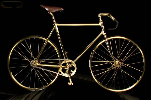 Позолоченный велосипед Aurumania