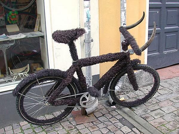 Велосипед с личиной бизона