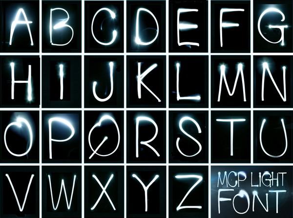 MCP Light Font – алфавит, нарисованный светом