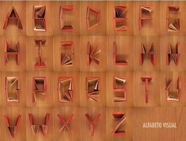 Книжный алфавит от Сони Ламеры (Sonia Lamera)
