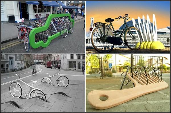 Самые необычные в мире велосипедные парковки