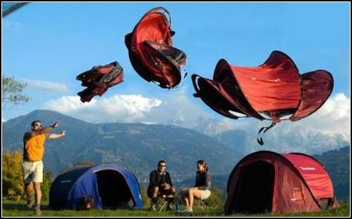 Палатка за 2 секунды