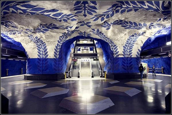 Пещерный Стокгольмский метрополитен
