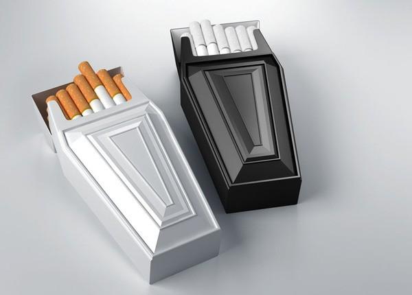 Антитабачная пачка сигарет